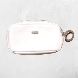 White Bulgari makeup case or travel bag